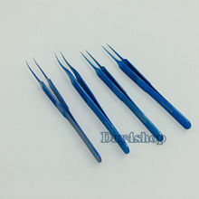 цена на New 4pcs/set different Jeweler Style Forceps ophthamic surgical instruments