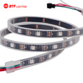 1M 30 LEDs Pixels Black PCB Waterproof in tube IP67 WS2812B WS2812 Addressable SMD 5050 RGB LED Flexible Strip Light DC5V