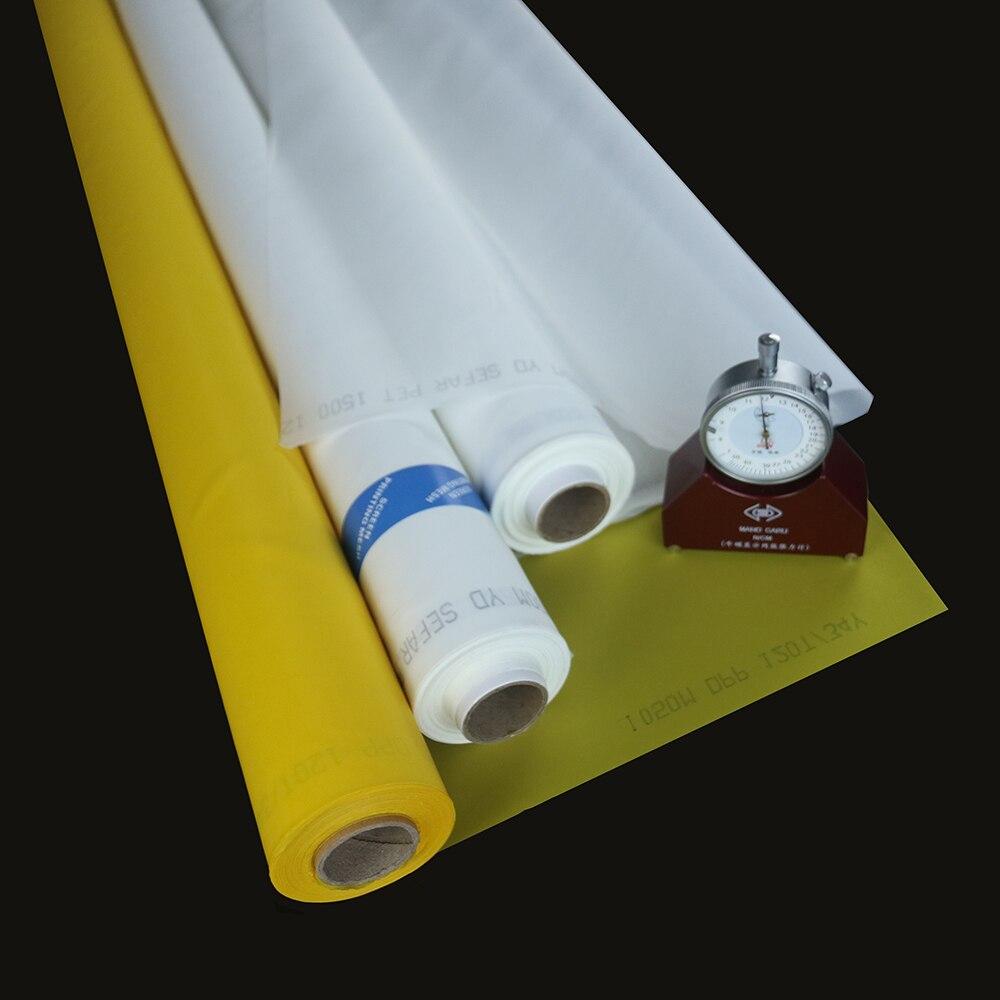 Быстрая Доставка 25 м 77 т 195 сетки 55UM белого или желтого полиэфирной ткани болтов печать изображения на ткани сетки шелк Футболка