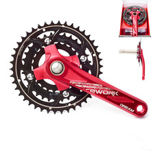 RACEWORK Mtb Crankset Aluminum CNC Bicycle Crank 170 mm 104BCD For SHIMANO 10 Speed Bike Crankset With Bottom bracket shimano fc m4050 t4060 alivio 3x9s speed mtb bicycle crankset 170mm include bb52