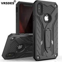 VRSDES caso para iPhone 7 8 a prueba de golpes militares de prueba de caída de funda de silicona para iPhone 6 6s Plus X 5 5s SE soporte de la cubierta del TPU del Shell