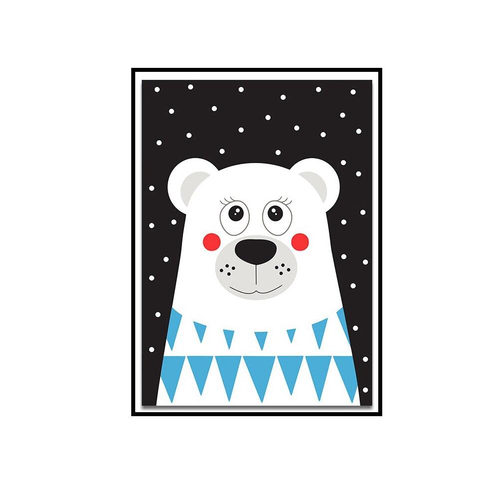 US $1 99 OFF Lucu Kartun Beruang Kanvas Sederhana Gambar Core Cat Air Minimalis Modern Minyak Lukisan Hidup Dinding Kamar Anak Dekorasi