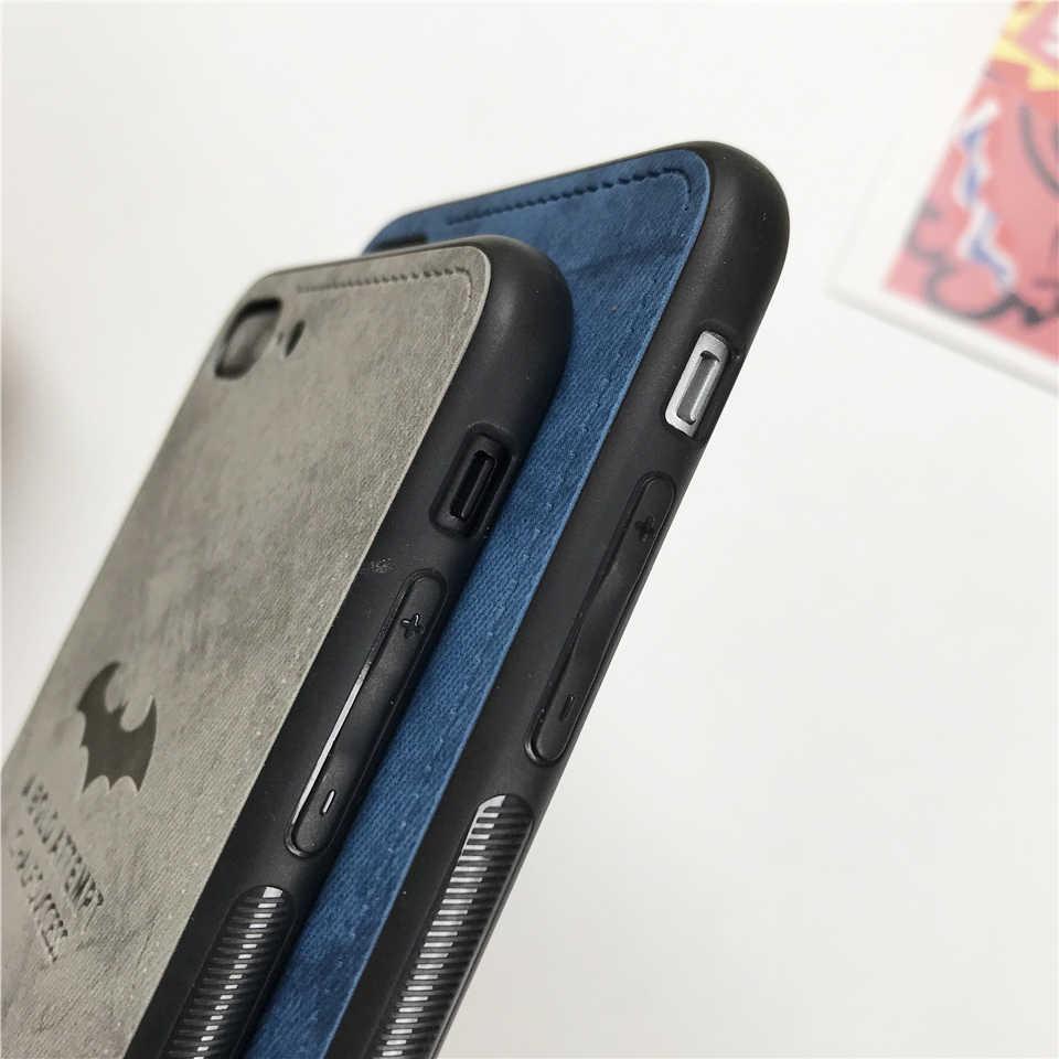 Чехол для iphone XS MAX XR X 6 6s 7 8 Plus, ткань с рисунком летучей мыши, художественный чехол для huawei mate 10 20 Lite P20 P10 Nova 3 Honor 9 8X