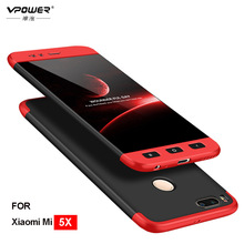 For Xiaomi Mi A1 Case Mi5X Cover Vpower Three-In-One 360 Full Protector 5X Without Tempered Glass