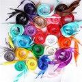 10 pairs Плоские Шнурки Спортивное Спорт Кроссовки Конфеты Бутон Шелковые Кружева Шнурки Многоцветный Красочные Шнурки Шнурки