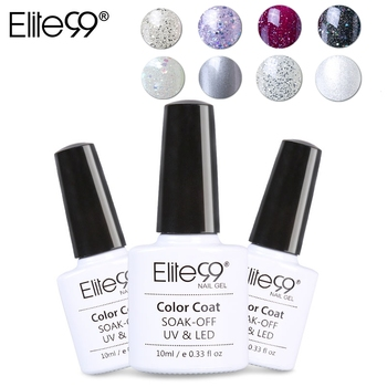 Elite99 12 stücke 10 ml Glitter Birne UV LED Gel Nagellack Semi Permanent Bunte Glänzende Soak Off Gel Lack benötigen Basis Top Mantel