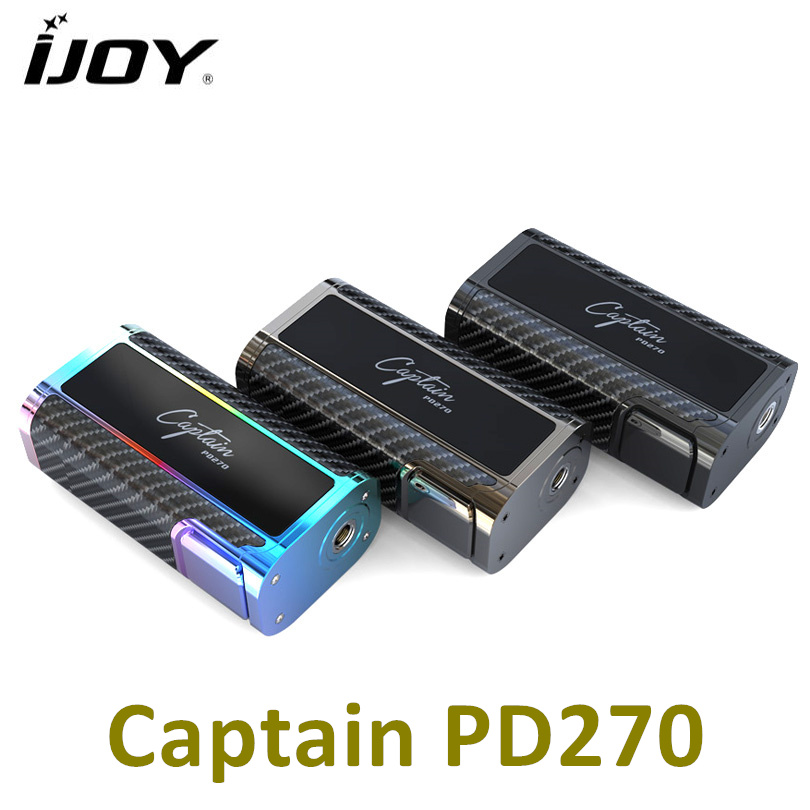 100% Original IJOY Captain PD270 Box Mod Vape 234W NI/TI/SS TC Electronic Cigarette Vaper Power by Dual 20700 Battery vape mod