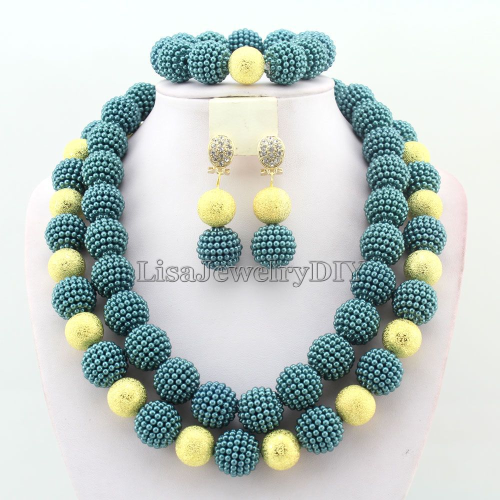 2019 New Fashion  african beads necklace set nigerian wedding   african beads jewelry set Free shipping    HD25552019 New Fashion  african beads necklace set nigerian wedding   african beads jewelry set Free shipping    HD2555