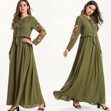 Embroidery Kaftan Abaya Turkey Robe Dubai Hijab Muslim Dress Jilbab Ramadan Elbise Abayas Women Caftan Marocain Islamic Clothing