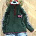 Британской Школы утолщение 100% хлопок свитер в большие дети Детские Мальчики осень мода