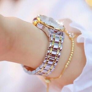 Image 3 - ダイヤモンド女性の高級ブランド腕時計 2019 ラインストーンエレガントな女性の腕時計ゴールド時計腕時計女性レロジオ feminino 2020
