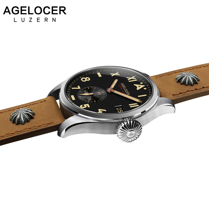Switzerland Local Brand AGELOCER Men Watches Luxury Waterproof 316L Stainless Steel Mechanical Men's Watch Relogio Masculino switzerland agelocer top brand automatic watches men luxury 18k gold 316l steel mesh watch with date clock man relogio masculino
