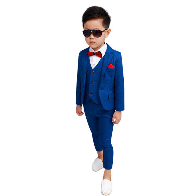 Blue Suit for Boys Costume enfant garcon mariage Kids Wedding Suits boys  suits for weddings boys Blazer Z11
