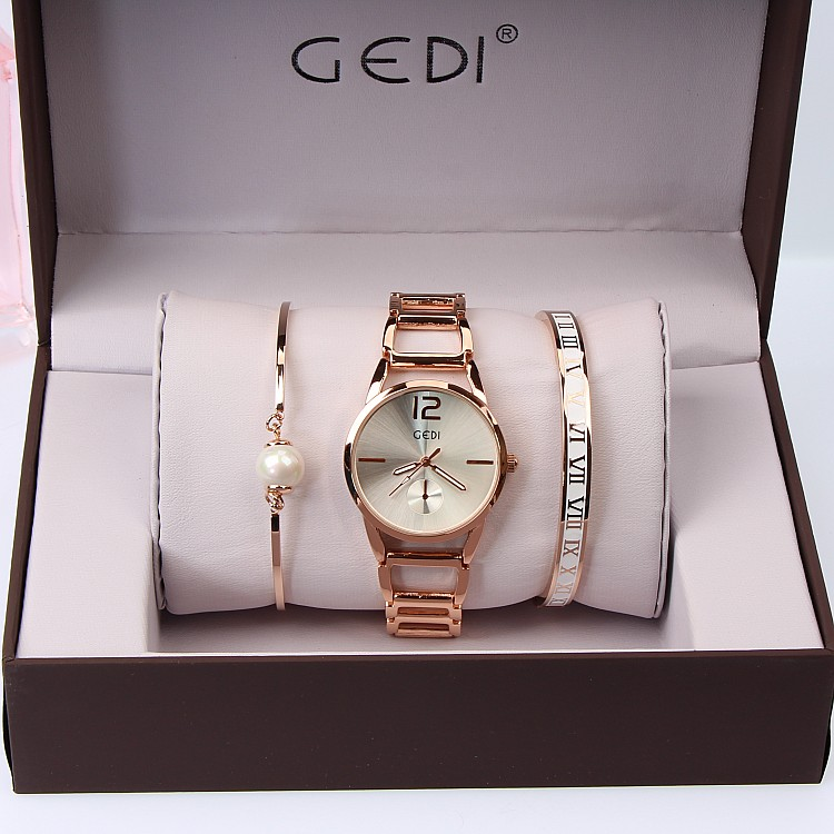 3PC Set GEDI Brand Klockor Klockor Mode Party Ladies Watch Kreativt - Damklockor - Foto 2