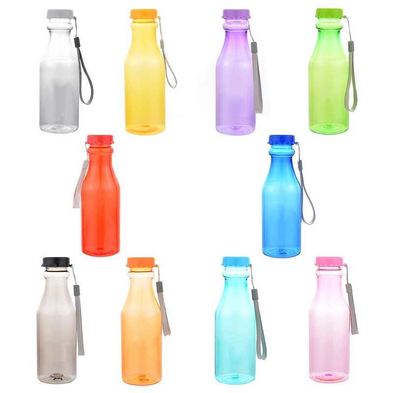 Botellas deportivas de plástico de 550 ml para gimnasio de Yoga a prueba de fugas de agua botella de botella
