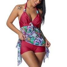 92240d6c6a 2019 Deux Pièces de Costumes maillots de bain femmes Tankini Floral maillot  de bain imprimé Deux