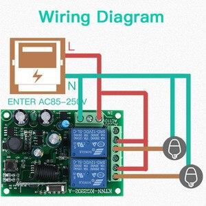 Image 5 - 433 Mhz Telecomando Universale Senza Fili Interruttore di Controllo AC220V 110V 2CH Relè Modulo Ricevitore & RF 433 Mhz per la Luce interruttore KTNNKG