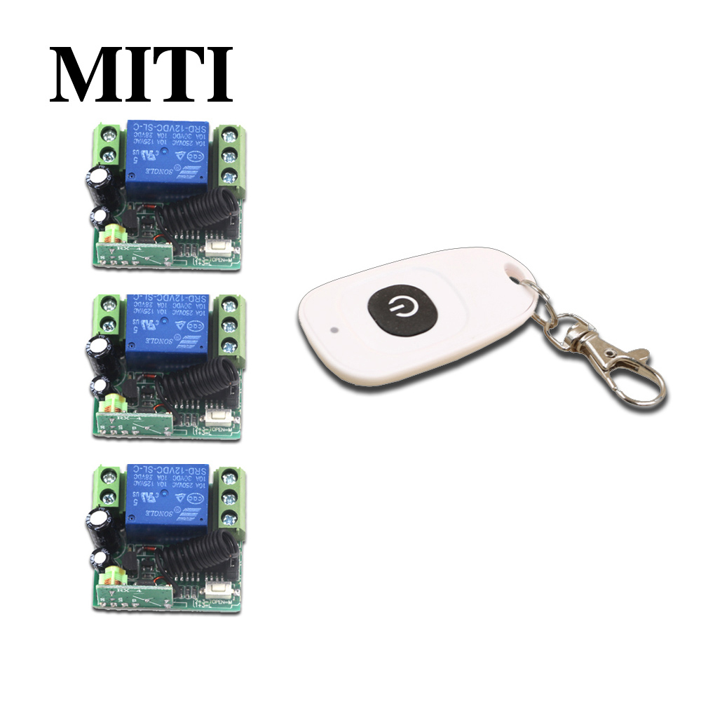 High Quality New Smart Home Mini DC12V 1CH RF Wireless Remote Control Switch System Remote Control