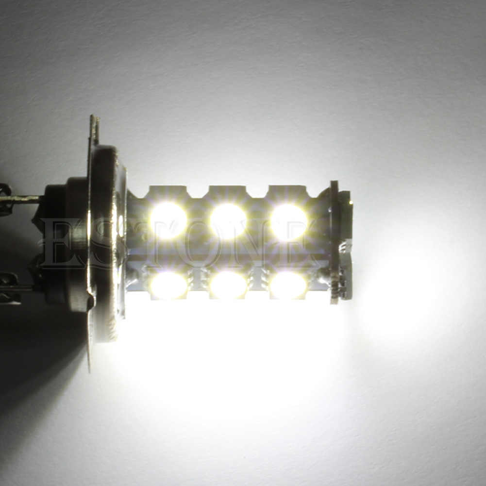 H7 5050 18-SMD LED سيارة بيضاء نقية لمبات الضباب القيادة مصباح النهار