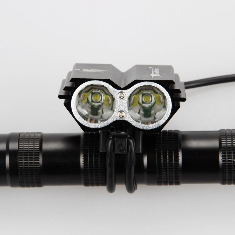 Цена за 7000 Люмен 2x XM L U2 LED Велоспорт Свет Велосипед Глава передний свет вспышки света + Задний Безопасности Задний Фонарь