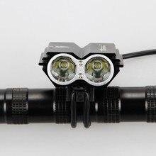 7000 lúmenes 2x CREE XM-L U2 LED bicicleta de la bici Head luz delantera luz del flash de luz + luz trasera Back luces traseras de seguridad