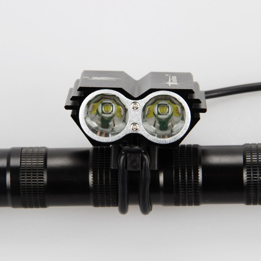 7000 lumens 2x xm l u2 led cycling bike bicycle light head front lights flash light