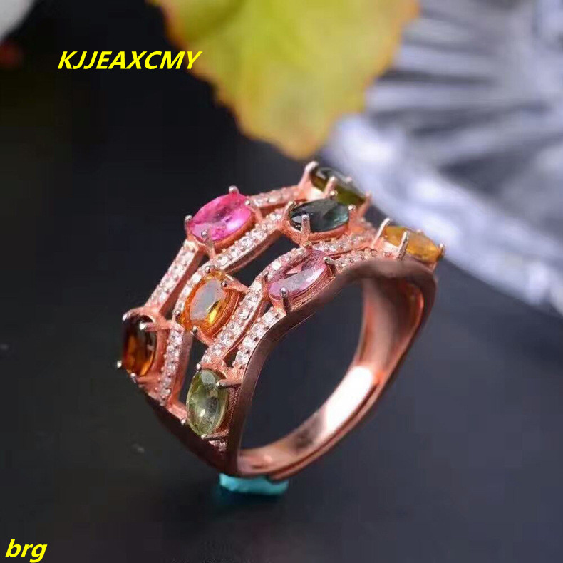 KJJEAXCMY Fine jewelry Fine Live mouth women ring 925 sterling silver rose gold ladies ring kjjeaxcmy fine jewelry 925 sterling silver ring pendant garnet red corundum jewelry ladies suits