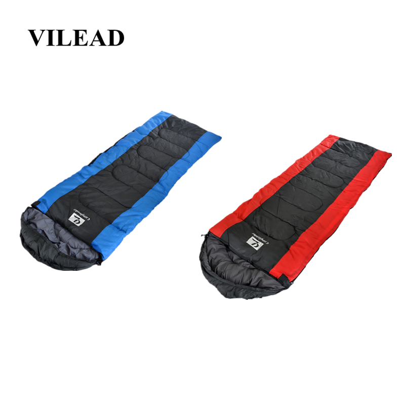 VILEAD Envelope type Ultralight Sleeping Bag Portable Waterproof Hiking Camping Stuff with Cap Adult Quilt Lightweight Winter-in Sleeping Bags from Sports & Entertainment