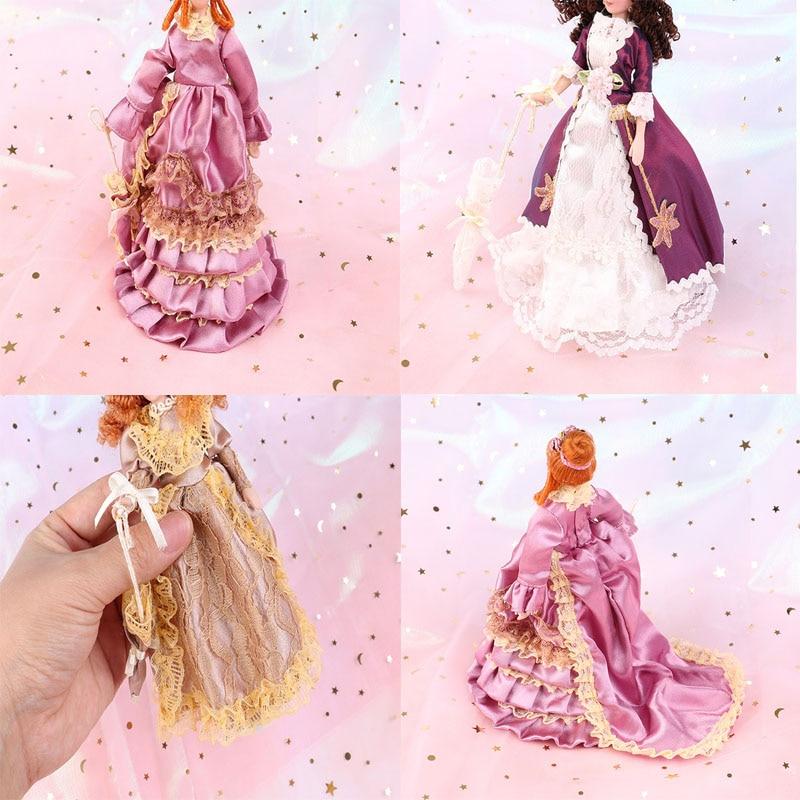1:12 Dollhouse Miniature Porcelain Doll Dollhouse Victorian Elegant Lady Madam