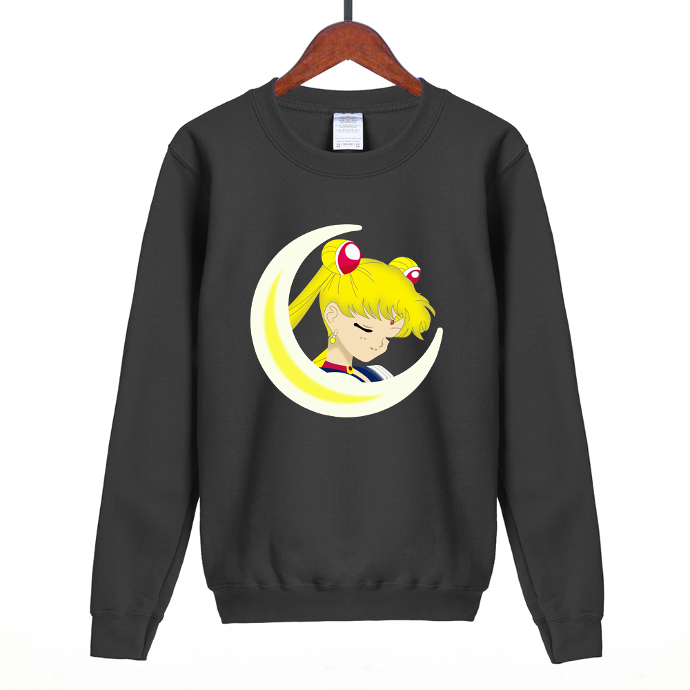 The new arrival 2019 Sailor Moon sweatshirt Harajuku kawaii hoodies women harajuku role playing sailor costume suit fleece S-XXL