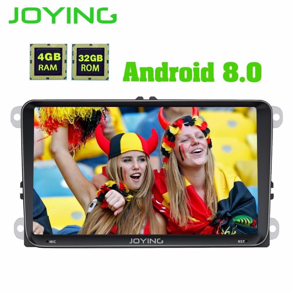 JOYING 4 gb di RAM Android 8.0 auto autoradio stereo per Golf Jetta Caddy EOS unità di testa per Passat Polo Tiguan GPS player per Skoda
