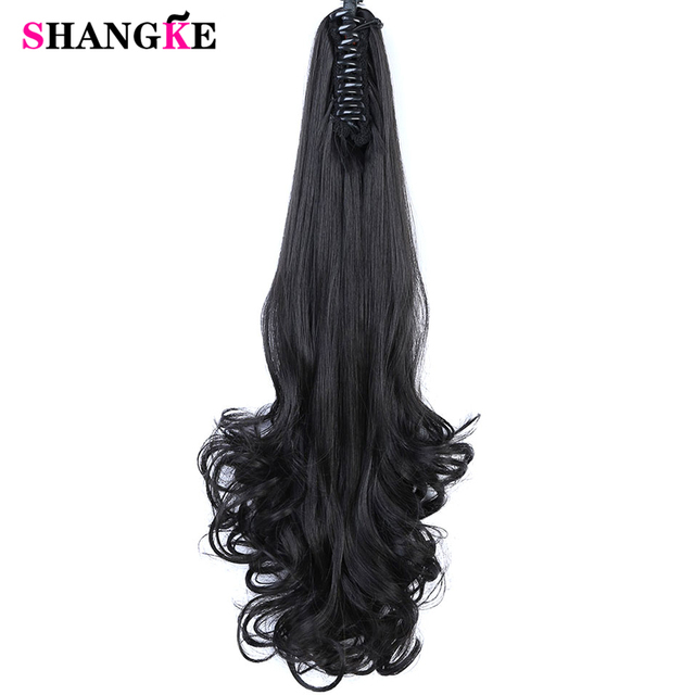Short Ponytail Hair Extensions Toogoo R Synthetic Wavy Claw Clip Pieces Red Brown