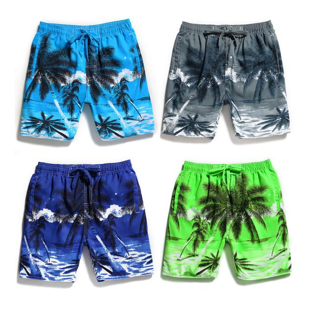 5XL Men Swimwear Beach Wear Boy Sexy Swimming Trunks Elesticity Waist Print Fire Tiger Shorts Boxers Natation Homme Swimsuit Man