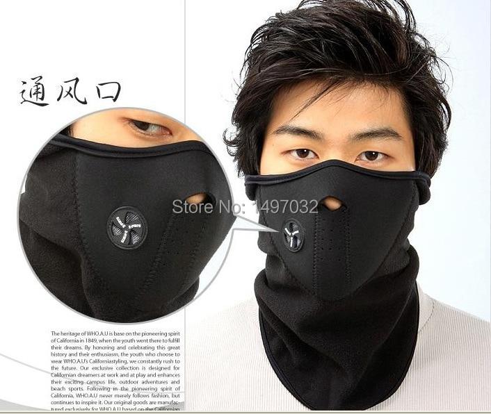 1pcs New Motorcycle Bicyle Bike Fleece Face Mask Sports Winter Warm Hats Cap Skullies  Wind Hood Thermal Balaclavas Scarf