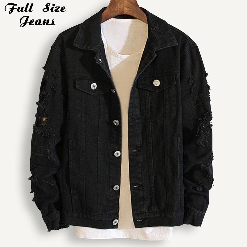 Plus Size Loose Ripped Black Denim Jacket Women 4Xl 5Xl Spring Streetwear Pink Red Basic Lover'S Jeans Coat Casual Outwear
