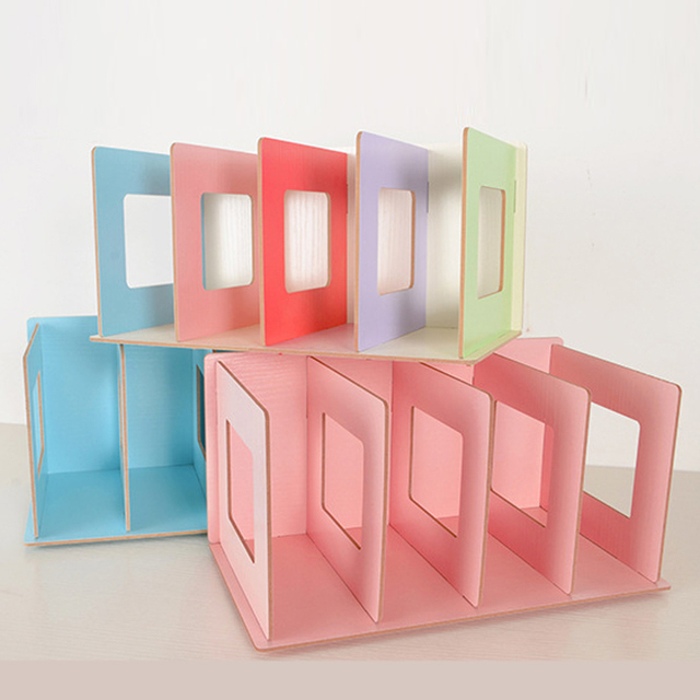 Charmant New Creative Colorful Wooden DIY Multifunction Book Stand School Office  Bookend 903