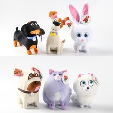 The Secret Life of Pets Plush Toys Stuffed Animals Cute Max Dog Mel Pug Gidget Buddy Dachshund Duke Snowball Rabbit Chloe Cat