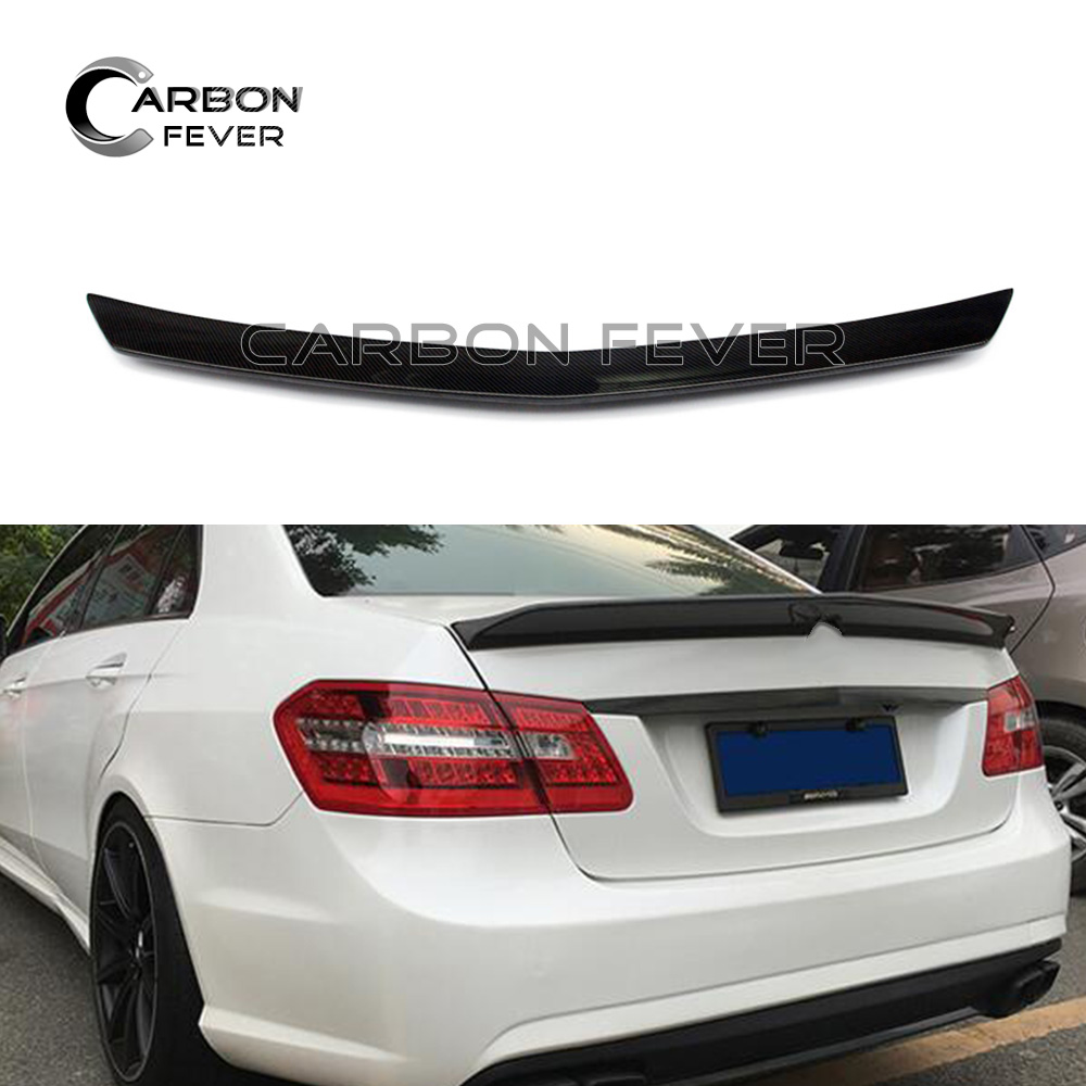 W212 E63 Carbon Fiber Rear Trunk Spoiler Wing For Mercedes E Class W212 Saloon 2010 - 2016 E220 E250 E300 E350 hk liitokala 7s2p 24v 4ah 18650 battery pack 29 4v 4000mah rechargeable battery mini portable charger for led lamp camera