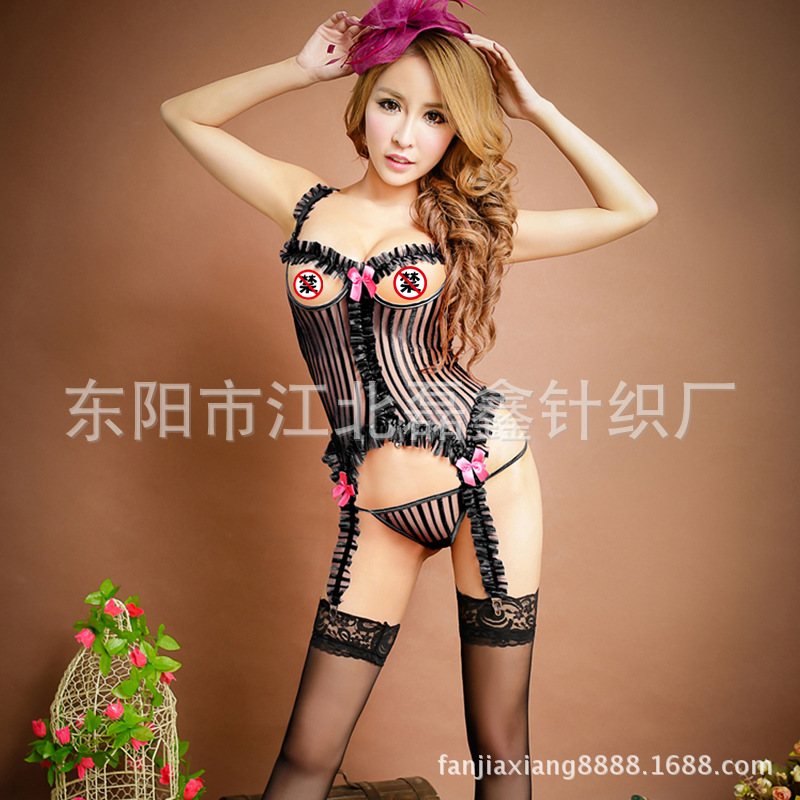 7ed29a502 Female Sexy Lingerie Garter Purple Black Polyester Nylon Women Sexy ...