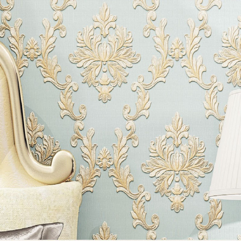 10M Vintage Luxury Damask Wallpapers Textured Embossed Flocking Wallpaper 3D Roll Bedroom wallpapers papel de parede boston ivy 3d brick wallpapers roll stone wall paper vinyl vintage wallpaper for walls papel de parede para 3d stone wallpapers