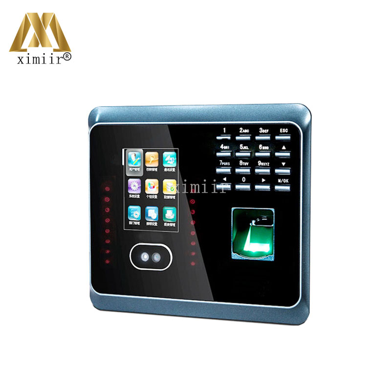 UF100Plus Face Recognition Time Attendance With Fingerprint And RFID Card EM Card Reader TCP/IP WIFI Facial Employee Time Clock