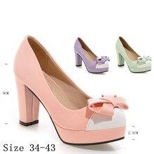 Women Pumps Platform High Heels Ladies High Heel Shoes Woman Party Wedding Shoes Kitten Heels scarpin Plus Size 34-40.41.42.43