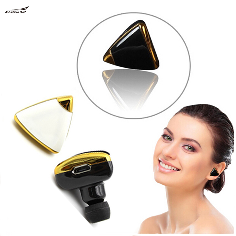 Bluetooth 4.0 Wireless Headset Jewelry Handsfree Music Earphone Earring Stereo Headphones For iPhone Samsung Huawei all phones ttlife mini wireless stereo bluetooth v4 0 headset high quality handsfree headphones universal for iphone samsung all phones
