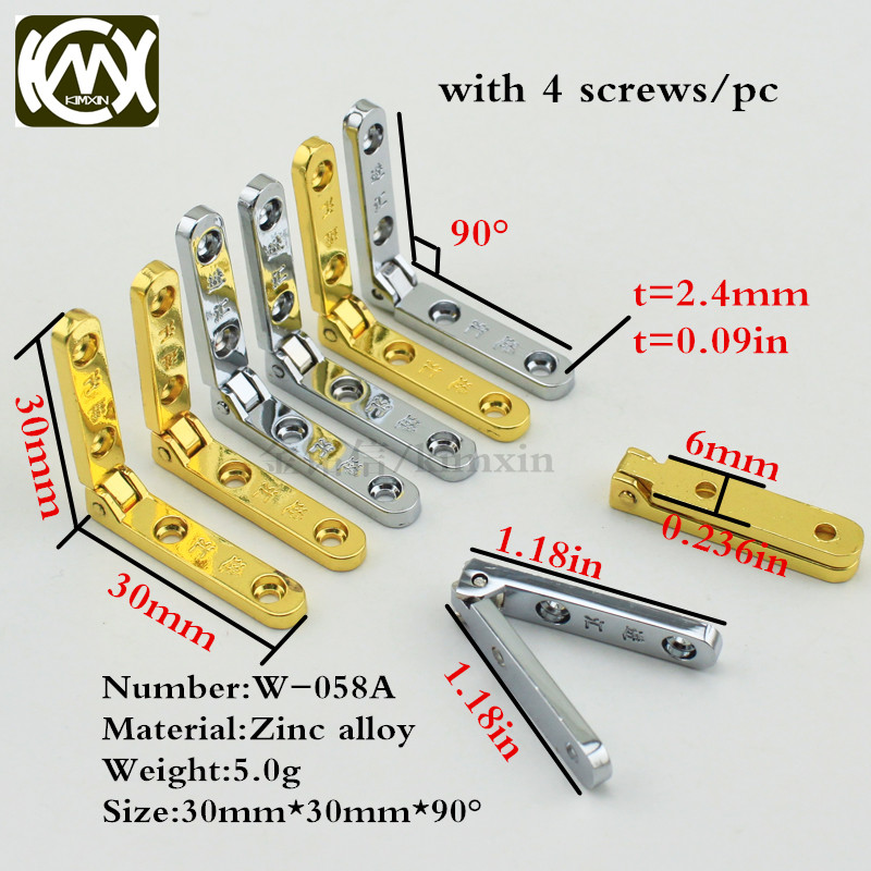 10x 30*30mm Kimxin In stock Wood box accessories Hinges/latches for jewelry boxes with word Zinc alloy seven-letter hinge W-058A mr27v3252j 058 2m word x 16 bit or 4m word x 8 bit otp