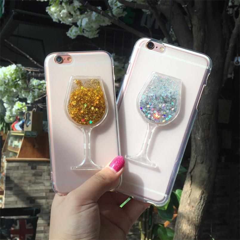 Phone Bags & Cases Persevering Bling Glitter Tpu Soft Silicone Wine Glass Cup For Zte Blade V6 Cover Dynamic Liquid Quicksand Star Case For Zte Blade D6 X7 Z7