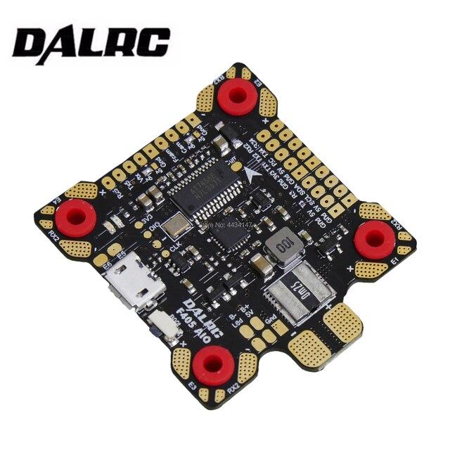 Dalrc f405 aio controle de vôo de alta qualidade mcu stm32 f405rgt6 mpu6000 gyro f4 aio controle de vôo construído em osd bec 9 v/3a pdb fc