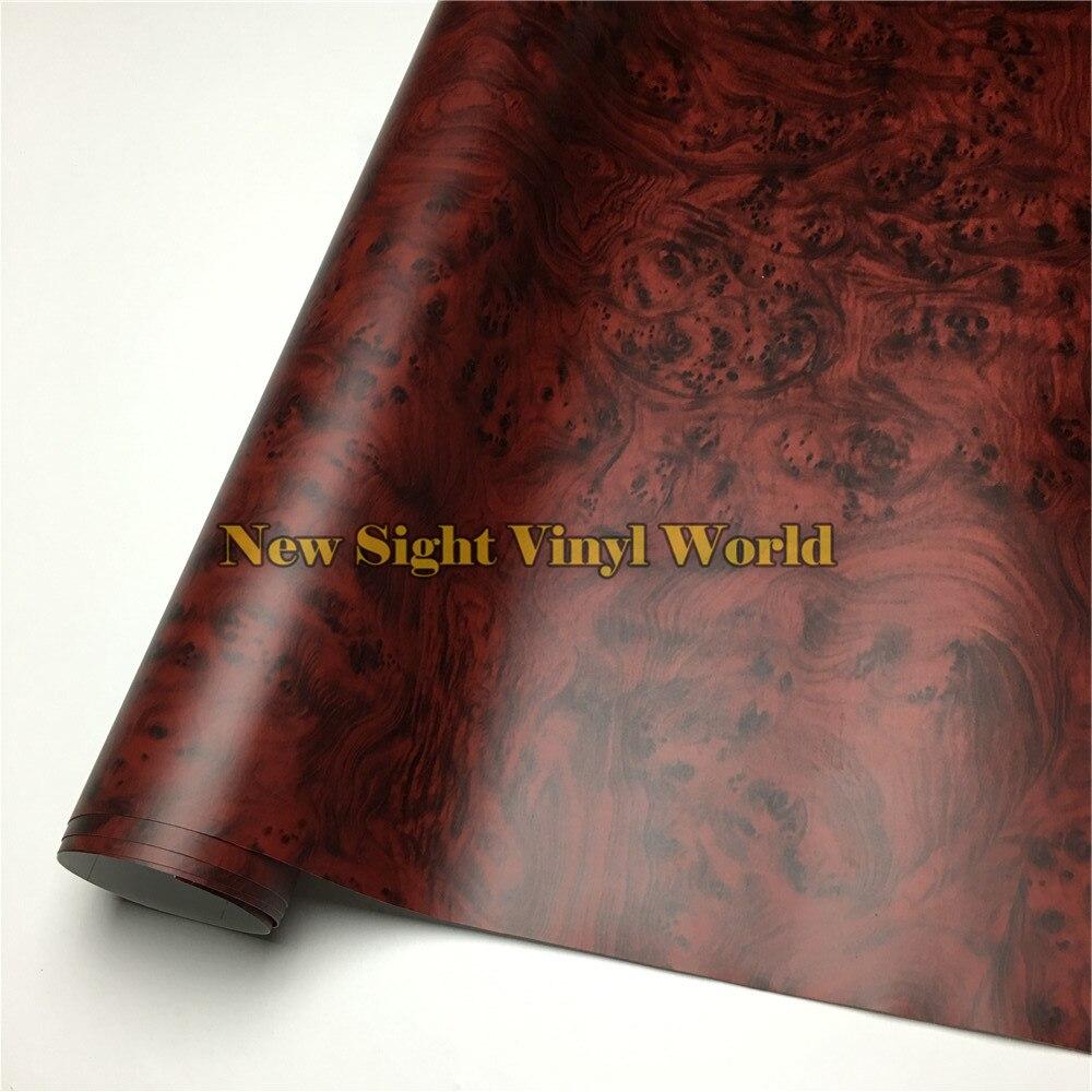 Oiseaux oeil bois auto-adhésif vinyle Grain de bois vinyle pour plancher meubles voiture Interier taille: 1.24X50 m/rouleau (4ft X 165ft)