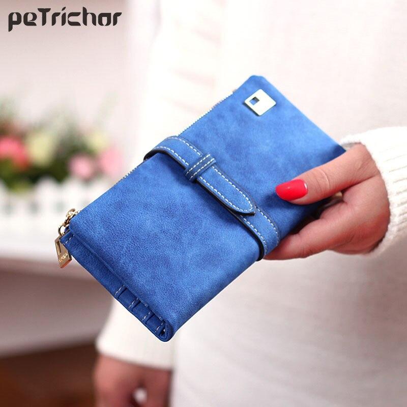 Hot Sale Fashion Women Wallets 7 Colors Matte PU Leather Zipper Soft Wallet Ladies Long Day Clutch Coin Purse Card Holder