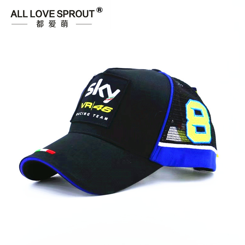 2017 NEW baseball caps racing baseball cap men hats snapback for women vr 46 moto gp doctor mesh breathable bones 100% cotton racing car sline baseball cap rs speedway hat racing moto gp speed car caps men and women snapback fans s line hats