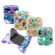 где купить MABOJ Cloth Diaper Cover One Size Reusable Waterproof Double Row Snap Baby Nappies Diapers with Bamboo Charcoal Insert Wholesale по лучшей цене